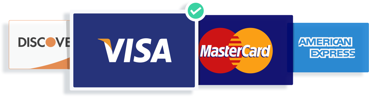 List of major credit card providers accepted by Volusion credit card payment processing