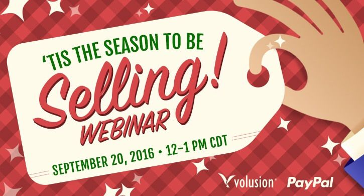Webinar: 'Tis the Season to be Selling