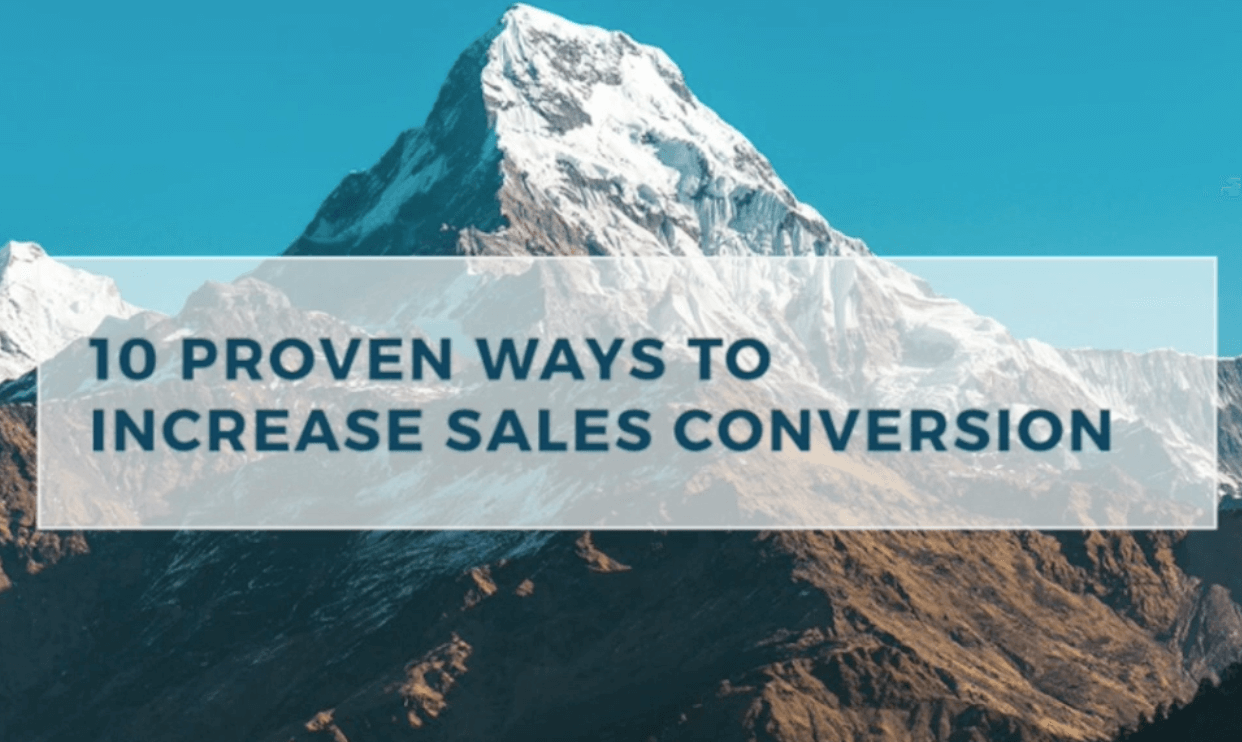 Webinar: 10 Proven Ways to Increase Sales Conversion