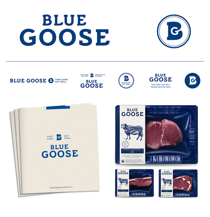 4 Icon Wordmark - Blue Goose