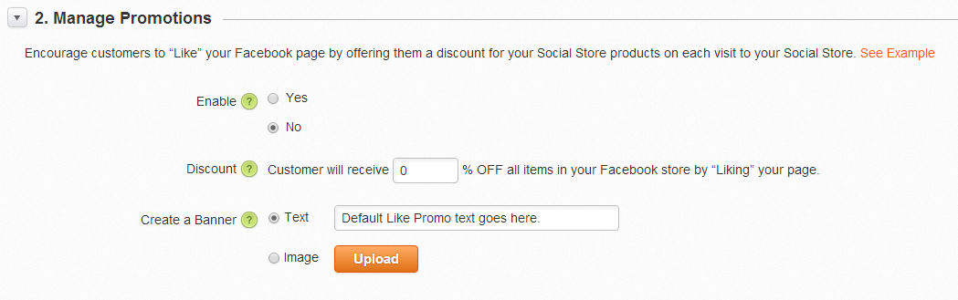 FB Store Manage Promotions