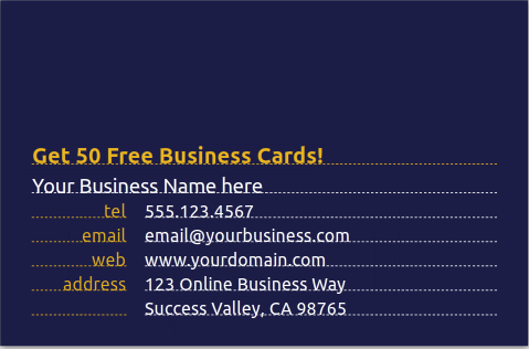 Get 50 free business cards from moo reheart