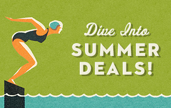 Dive into Summer Deals graphic