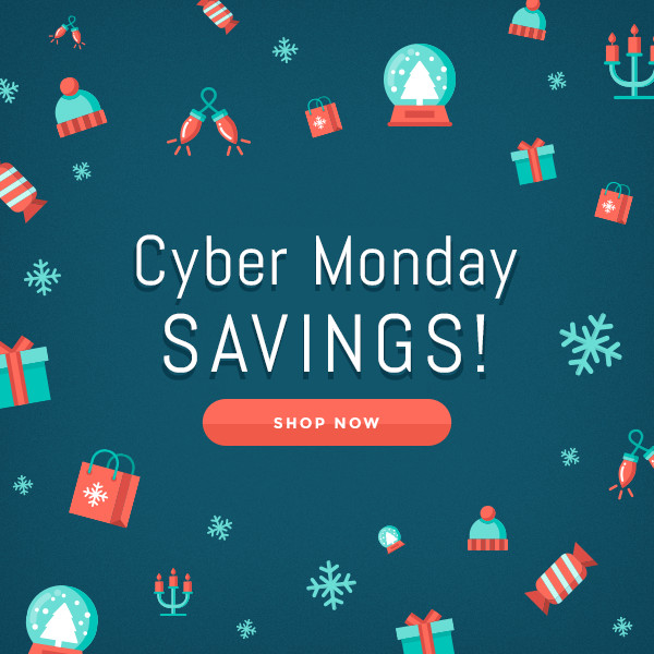 Cyber Monday Savings graphic