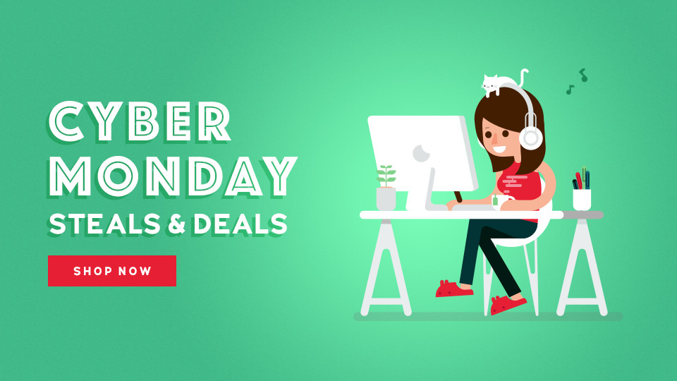 Cyber Monday Steals & Deals graphic