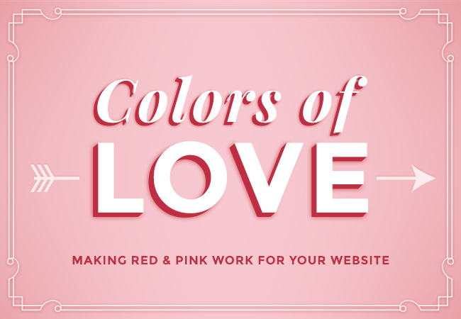 colors of love making red pink work for your website